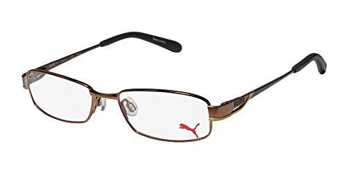 Puma 15324 Santa Fe Mens/Womens Designer Full-rim Spring Hinges Fabulous Famous Eyeglasses/Eyewear (51-16-135, Copper/Yellow / ()