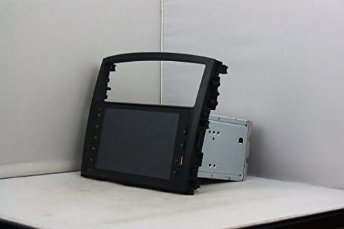 KUNFINE Android 9.0 8核自動車GPSナビゲーション マルチメディアプレーヤー 自動車音響 三菱 MITSUBISHI PAJERO 2006 2007 2008 2009 2010 2011 2012 deckless 自動車ラジオハンドル制御WiFiブルースティスト