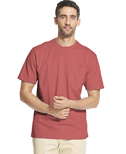 IZOD Men's Big and Tall Saltwater Short Sleeve Solid T-Shirt with Pocket, Rapture Rose, 2X-Large