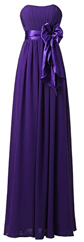 Dress Schulterfrei Fanciest Purple Party Brautjungfernkleides Damen Chiffon Lang Wedding va7Hawq1