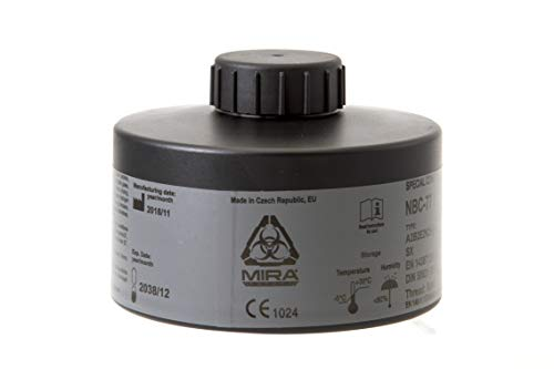 (MIRA Multi Gas Vapor Cartridge Respiratory Protection 20 Years Shelf Life CBRN NBC Grade (Mira Filter))