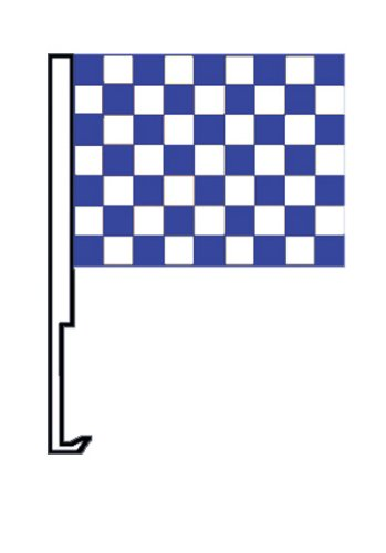 NEOPlex Checkered Blue/White Car Window Flag]()
