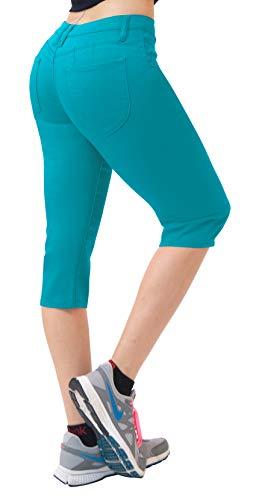 HyBrid & Company Super Comfy Stretch Bermuda Shorts Q43308 Teal 3