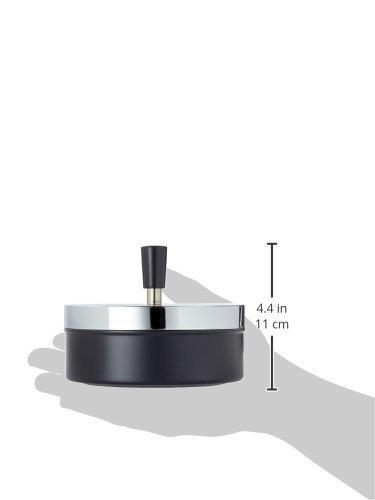 Metallo//cromo//nero circa 14/diametro SMOKERTOOLS gigantesca Bellissimo Tappeto Moderno Posacenere posacenere