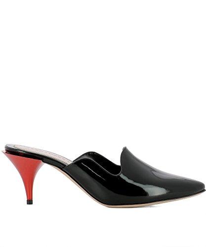 Alexander McQueen Women's 520097Whs701000 Black Leather Heels