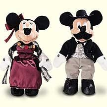 Retired Disney Wild West Mickey Mouse and Minnie Mouse Western Frontier Gold Digging Saloon Loving 9
