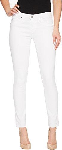 AG Adriano Goldschmied Women's Legging Ankle Super Skinny Jean, White, 27