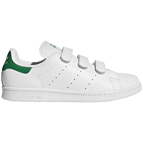(adidas Mens Stan Smith CF Leather Footwear White Green Trainers 11.5 US)