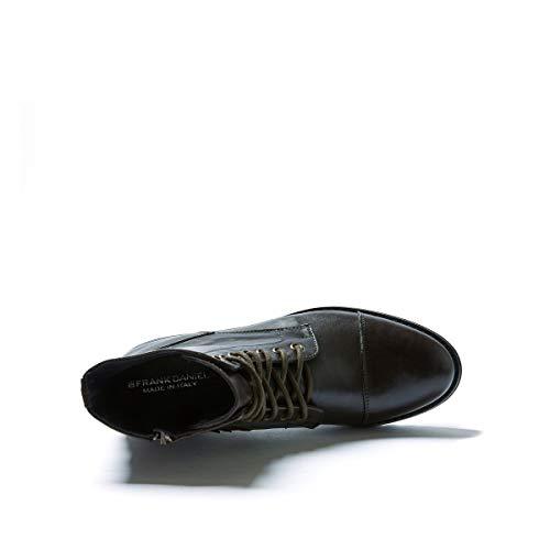 Frank Derby con Donna di cap di Daniel Decorazione Testa Moro Colore cap Toe Dark Brown Ankle Scarpa Derby Toe Boot Stringata rwrIZR