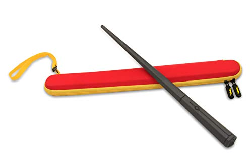CASEMATIX Protective Wand Toy Case Fits Kano Harry Potter Coding Kit Wand for Children - Red and Yellow Travel Case is Easy to Carry , Water Resistant , Protects Wand from Breaking - CASE ONLY