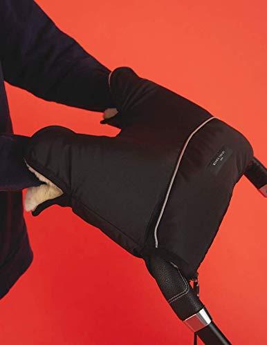 Guantes para proteger del fr/ío en Invierno Manoplas Calentador de Manos Impermeable para mango de Carrito de beb/é o Silla de paseo de Piel de Cordero 100/% Natural y Medicinal de CHRIST negro