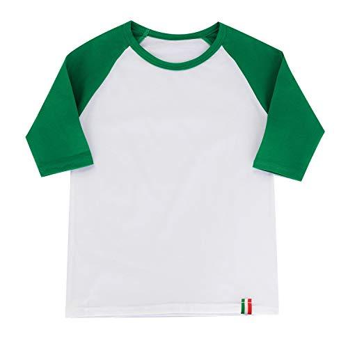 Jersey Sleeve 1 - Infants Girls Raglan Tee for Baby Girls Baseball Jersey Shirt 3/4 Sleeve Shirt XXS Green/White