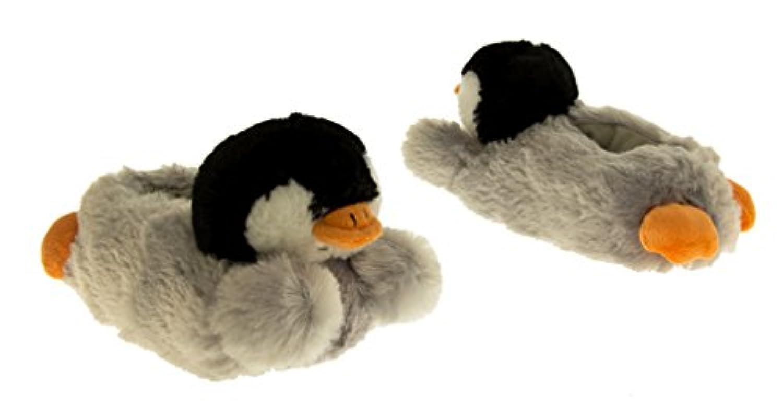 Girls Boys Kids Novelty PENGUIN Slippers Cute Christmas Gift Funny Slipper Size 2 UK (34-35 EUR)