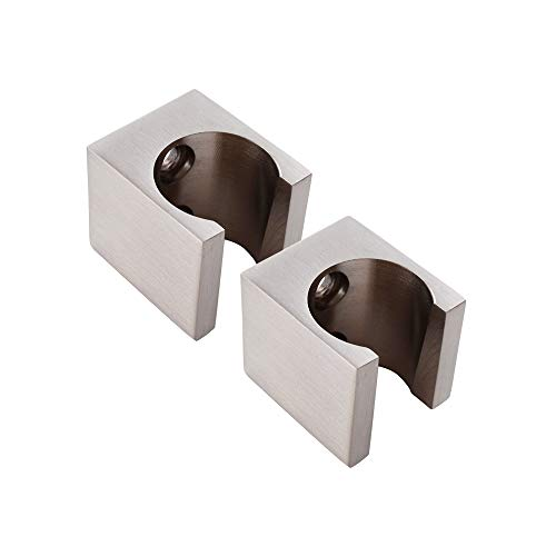 Wall Holder Mount Flush Door (KES All Brass Handheld Shower Head Holder Bracket Wall Mount for Bathroom Hand Sprayer Wand or Toilet Hand Held Bidet Spray 2 Pcs Pack Brushed Nickel, C107-2-P2)