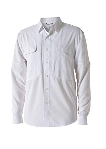 Expedition S/s Shirt - Royal Robbins Men's Bug Barrier Expedition Long Sleeve Shirt, White, Large
