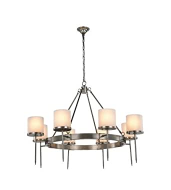 Pendants 8 Light With Vintage Nickel Finish E12 Bulb 45 inch 320 Watts - World of Classic
