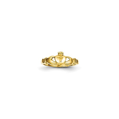 14k Claddagh Baby Ring, 14 kt Yellow Gold, Size 1