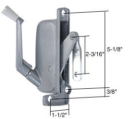 C.R. LAURENCE H3665 CRL Left Hand Awning Window Operator for Miami Windows (Awning Window Left Hand)