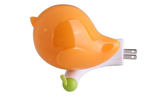 [V2]GoLine LED Baby Night Light w/ Light Sensor, Jungle Bird Toddler Wall Light, Bedroom D¨¦cor Light for Kids, Plug&Play, Super Low Power Consumption, Average Working Life over 100000 Hours.(Orange) -