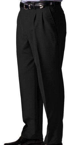 Ed Garments Men's Lightweight Pleated Front Wool Pant, BLACK, 36 36 -