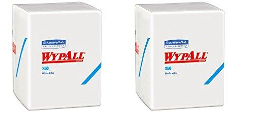 Wypall x60 Washcloths (41083 ) with Hydroknit、12.5 X 10、ホワイト、Quarterfold、8パック/ケース、70シート/パック 2-(Pack) B07D6WPM27  2-(Pack)