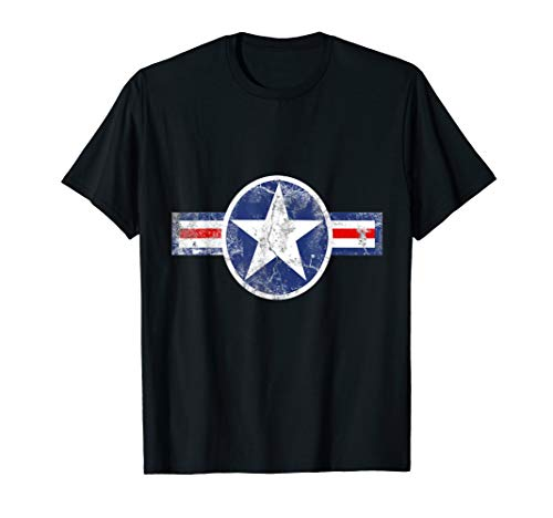 Vintage Army Air Corps Patriotic Star Tshirt ()