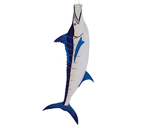 (Mozlly Multipack - In the Breeze Blue 36 inch Marlin Fish Windsock - Hanging Novelty Patio Decor (Pack of 3) - Item #S115053_X3)