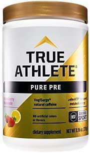 Pure PreWorkout with VegiSurge and elevATP to Support metabolic Energy Strawberry Lemonade (11.96 oz. / 30 Servings)