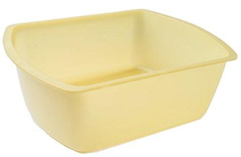Vakly Rectangular Plastic Wash Basins, Yellow, 8 Quart. Pack Of (2)
