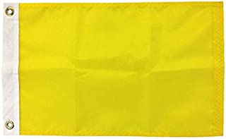 product image for 12X18 Quarantine Flag, 200 Denier All-Weather Nylon, for Sailing and Boating Port Entry, Made in USA