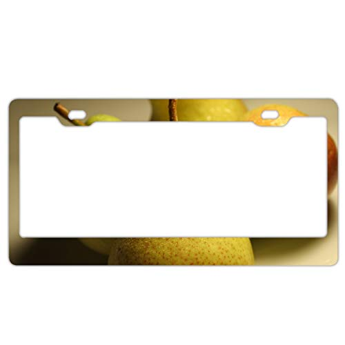 ArtsLifes Pear Green Drops Macro Home,Bathroom and Bar Wall Decor Car Vehicle License Plate Metal Tin Sign Plaque