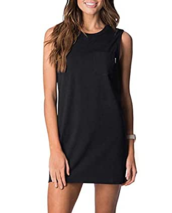 Rip Curl Women's Plains Tank Dress, Black, 10