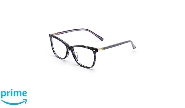c2f52a941d JIM HALO Cuadrado Sin Receta Gafas Lente Claro Anteojos Hombre Mujer Azul:  Amazon.es: Ropa y accesorios