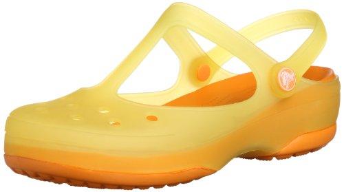 crocs Women's Carlie Mary Jane (8 M US, Burst/Mango)