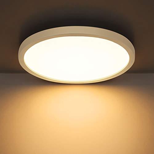 Combuh Plafondlamp LED 24W 2160LM Ultradun Plafond Licht voor Kinderkamers, Badkamers, Keukens, Balkons, Gangen Warm Wit…