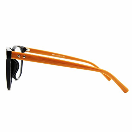 cadre PE1 Brown Grand Black GQUEEN lunettes surdimensionné transparentes corne clair 15OO0xw