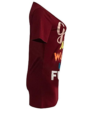 Sexy Coolred Baggy Tunic Women Pattern Design Slim Red Letter Wine Dress Floral xqw6XgSqZ