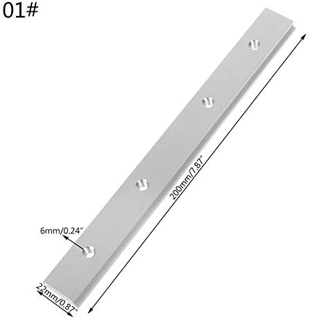Nologo G.Y.X M6 M8 200mm Slide Slab T Spur Slot for T-Nut Mitre Spur Fixture Slot Router Tabelle Holzbearbeitungswerkzeuge (Farbe : M6)