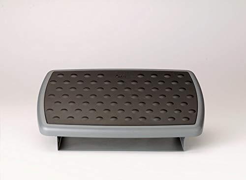 3m Adjustable Footrest - 3M FR330 Adjustable Height/Tilt Footrest, Nonskid Platform, 18w x 13d x 4h, Charcoal Gray (Renewed)
