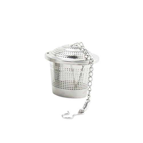 Tea Strainer, Newness 304 Food Grade Stainless Steel Tea Strainer with Lid and Extended Chain - Tea Infuser / Tea Filter for Tea Cup, Mug and Teapot, Small Size