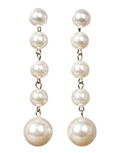 Art Deco Drop - Flapper Girl Women's Party Vintage Pearl Drop Earrings-Great for Brides or Bridesmaids