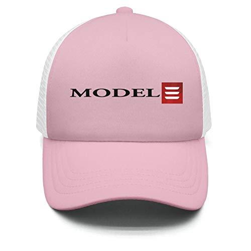 NIDHBD Funny Tesla-Model-3-red-logo-symbol-icon-emblem-light-pink Dance Hat Womens - Hat Icon Pink