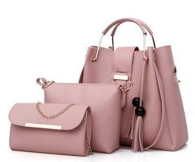 e538ffabb605 Amazon.com: DingXiong 2018 Women 3Pcs/Set Handbags PU Leather ...
