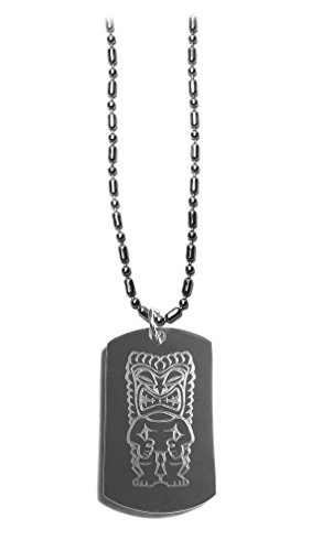 Tiki Idol Island Statue - Luggage Metal Chain Necklace Military Dog -