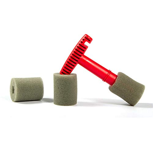 (Premium Wheel/Lug Nut Cleaning Brush Car Wheel Brush Wheel Cleaning Detailing Brush With Handle & Removable Insert Sponge)
