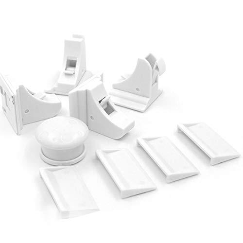 Cierres magnéticos invisibles para bebés y niños Seguridad para el hogar Armario de la puerta interior Cerradura de...