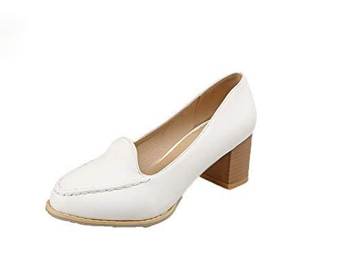 Trafilatura flats Tacco Fbuidd008391 Punta Medio Allhqfashion Ballet Chiusa Donna Bianco twqUvvR7
