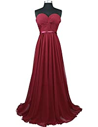 Womens Strapless Sweetheart Pleated Evening Prom Dress