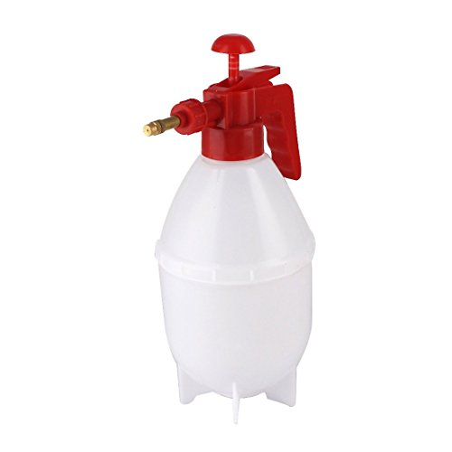 uxcell Plastic Flowers Plants Water Pressure Spray Bottle Garden Tool Red White by uxcell