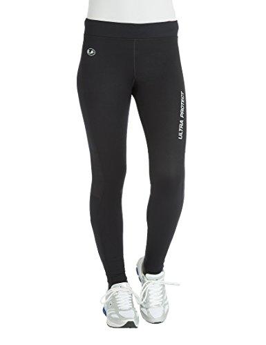 Ultrasport Damen Laufhose Windblocker, Schwarz/Dubarry, M, 10819